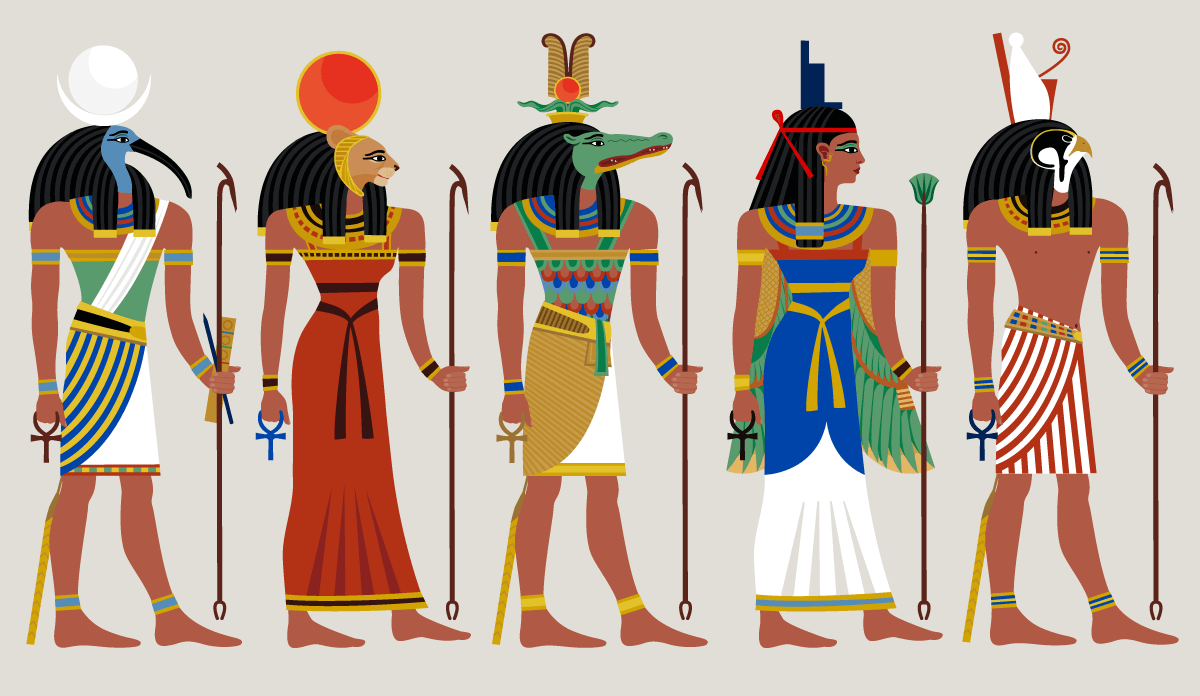 Illustration of Egyptian gods