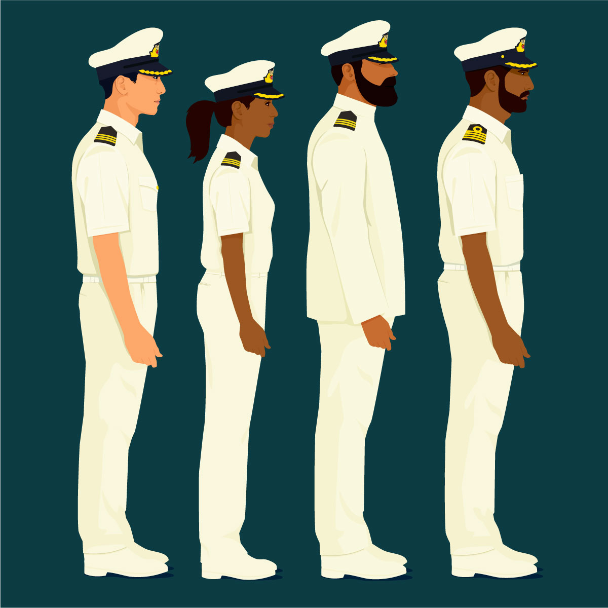 Various ship captains