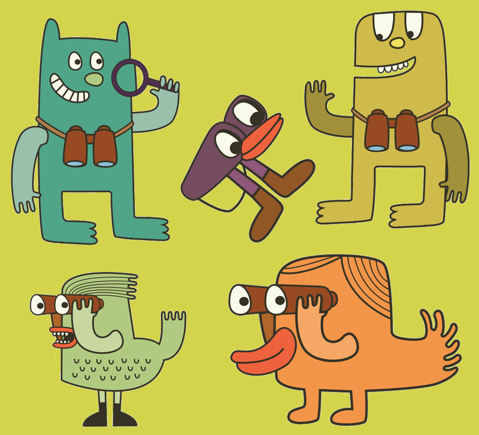 Collection of characters for children. Used in a pack for exploring Manchester