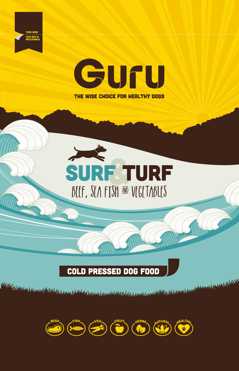 Guru Dog Food Packaging