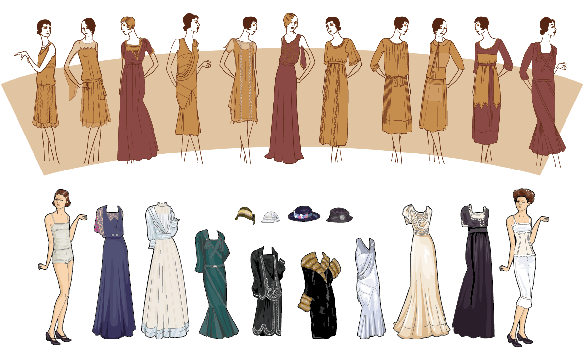 Dress collection illustration