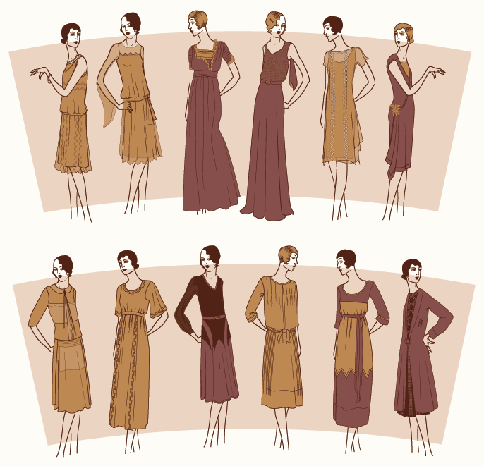 illustration of more dresses