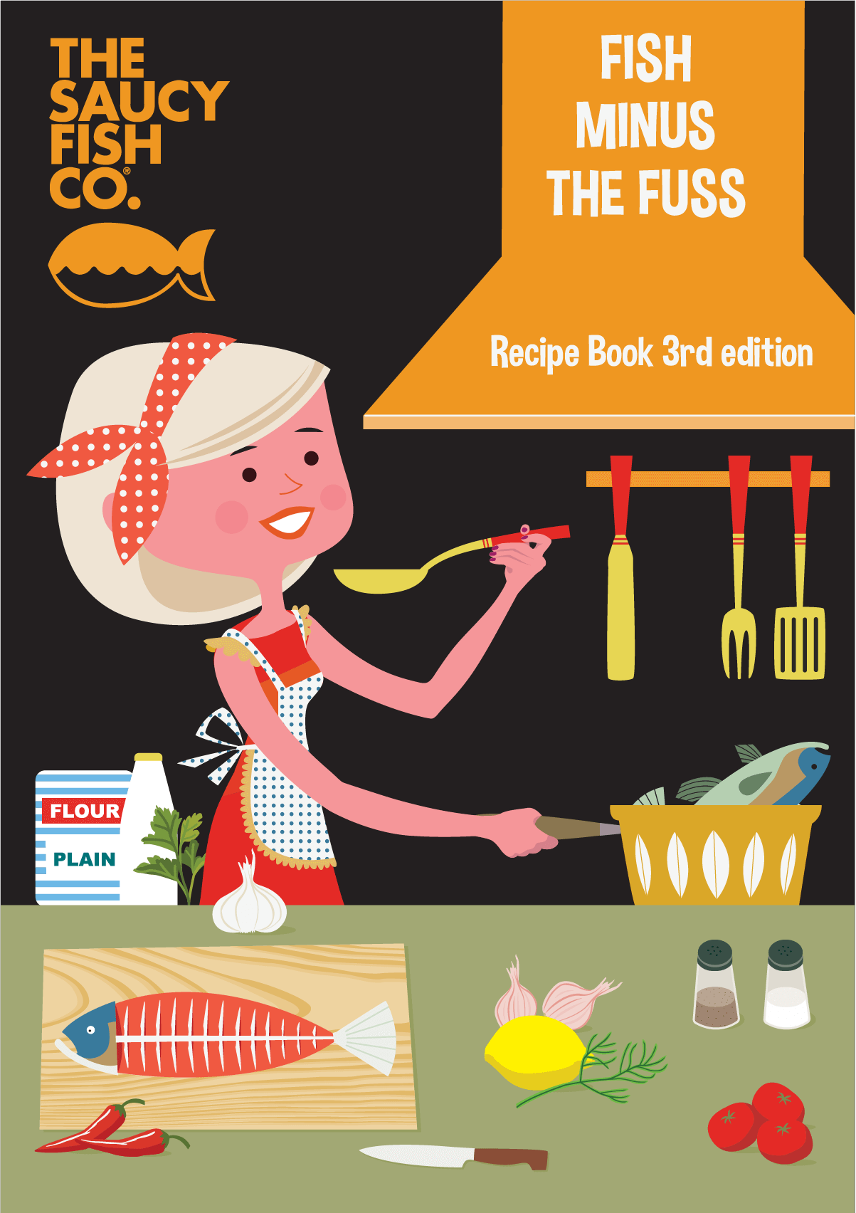 Saucy Fish Recipe Book, Page one